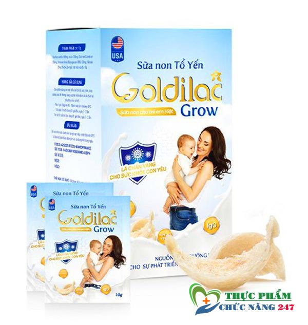 Sữa non tổ yến Goldilac Grow mua ở đâu, Sữa non tổ yến Goldilac Grow bao nhiêu tiên? Đặt mua tại Shop Thực Phẩm Chức Năng 247